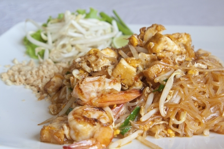 Thai food Pad thai ,  Fried noodles with shrimp photo