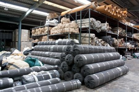 Carpet warehouse Stock Photo