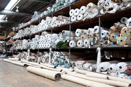 manufacturing materials: Carpet  warehouse Stock Photo