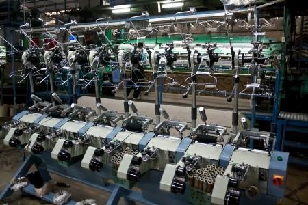maching: yarn mill making carpet