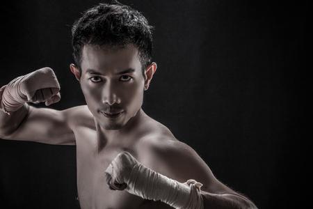 seins nus: Portrait de Topless mandat asiatique, le concept de boxeur