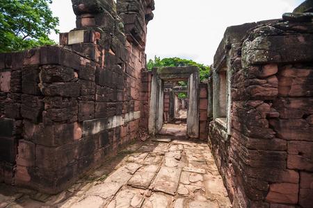 Part of Phimai Historical Park popular among tourists ancient landmark and place of worship Stock Photo