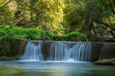 Chet Sao Noi Waterfall, Muak Lek Thailand Stock Photo