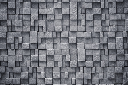 Abstract of concrete cube background Stock Photo