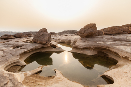 Landscape of Sam pan bok, Ubon-ratchathani, Grand Canyon of Thailand