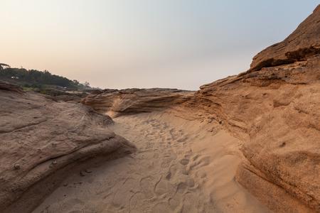 sand pathway in Sam pan bok, Thailand