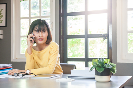Young entrepreneur lady having a business  call