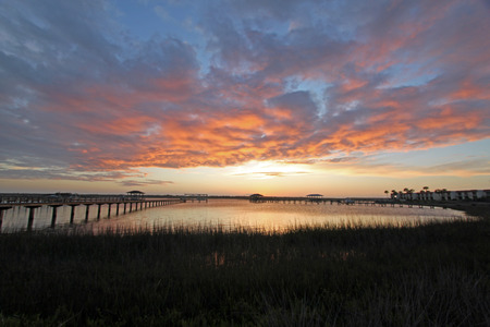 waterway: Sunset on the Intracoastal Waterway