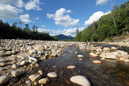 river: Pemigewasset River, Lincoln, New Hampshire Stock Photo