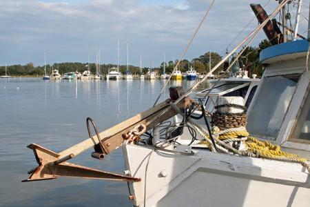 shrimp boat: Shrimp boats, Beaufort, North Carolina Stock Photo