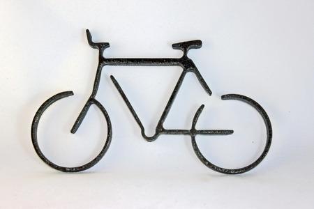 bike cut from steel plate
