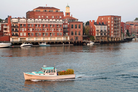 portsmouth: lobster fisherman heads out