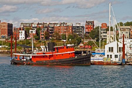massachusetts: Tug at fuel dock, East Boston, Massachusetts.