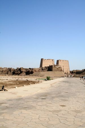 Temple of Horus [Edfu, Egypt, Arab States, Africa] Stock Photo - 4208377