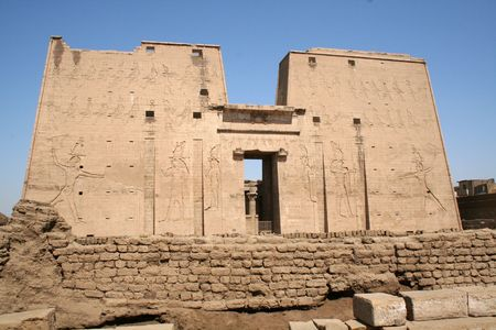 Edfu Temple of Horus [Edfu, Egypt, Arab States, Africa] Stock Photo - 4208385