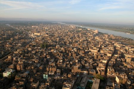 sudan: The River Nile - Aerial  Elevated View  From the Air