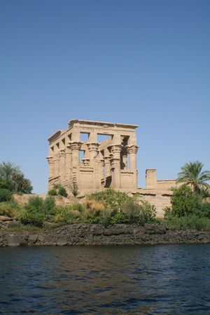 Trajans Kiosk at Philae Temple - Ancient Egyptian Monument