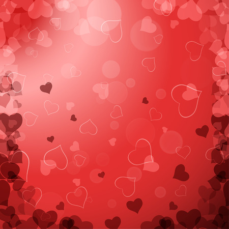 radiance: Vector Happy Valentines Day gradient background with red hearts, radiance.