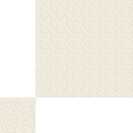 squirm: Seamless pattern of swirls on a light beige background with pattern unit.