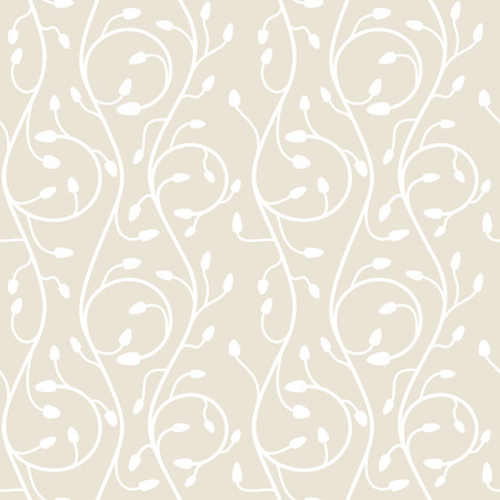 squirm: Seamless pattern of swirls on a light beige background Illustration