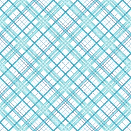 Seamless simple pattern of blue lines of varying thickness on a white background. Stock Photo