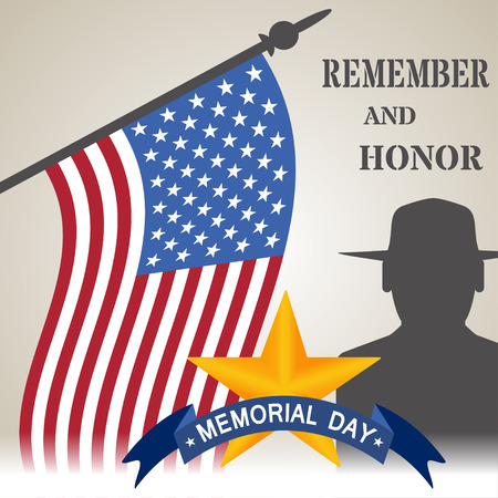 honor: Vector illustration of Memorial Day. Day of Remembrance. We remember and honor vector illustration Illustration