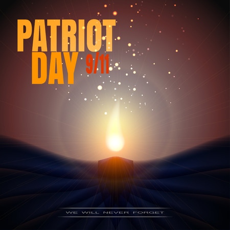 picture of Patriot Day on a background with candle.