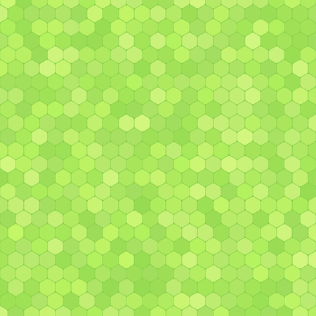 Abstract green background with hexagon shapes different opacity.