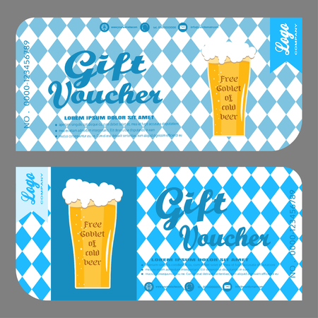 blank of gift voucher to increase the sales of beer in a bar.
