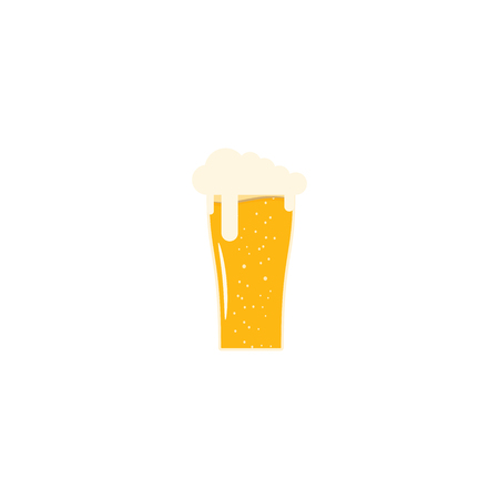 fully: Isolated flat icon fully loaded goblet of light beer.