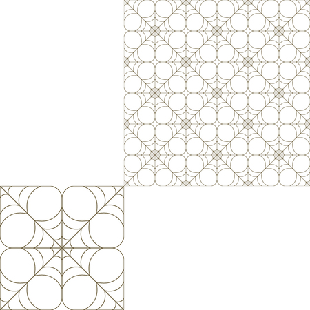 spider web: Halloween seamless pattern with spider net on the white background with pattern unit.