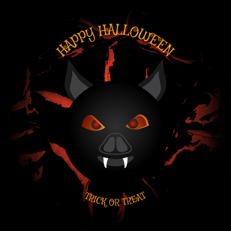 Poster to Happy Halloween holiday Illustration