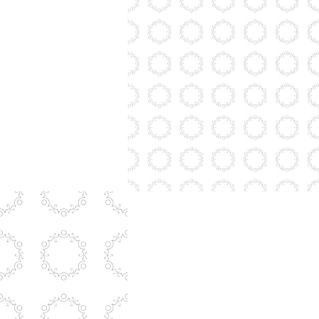 Illustration of seamless abstract gray pattern with dots and lace pattern.