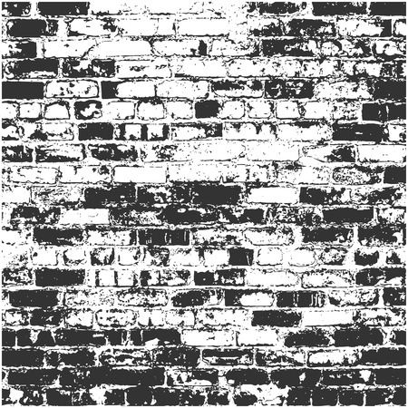 Vector texture brickwork in gray colors. Vector brick wall texture.