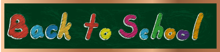 Back to school text on green board with chalk vector design