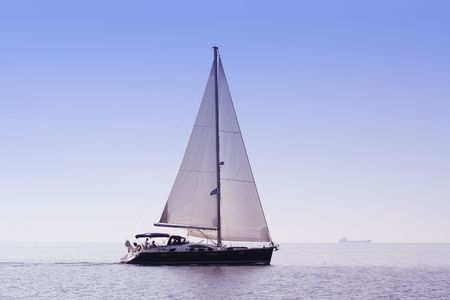 skiathos: Sailing boat vacation. Aegean sea, near Skiathos island. Greece