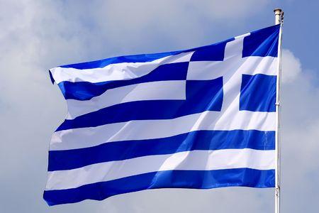 skiathos: Greece flag. Skiathos Island