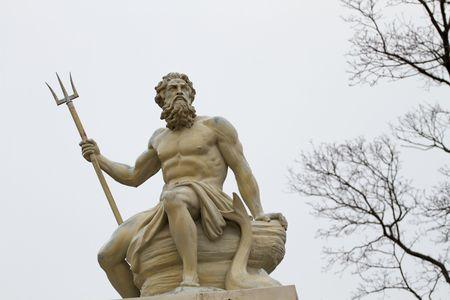 poseidon: Poseidon was a major civic god of several cities and god of the seas. Stock Photo