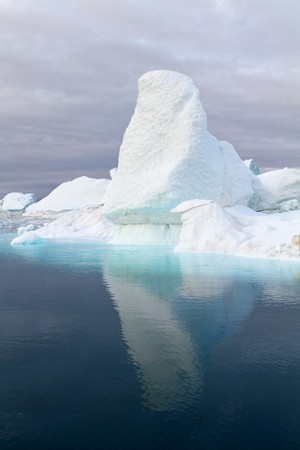 icefjord: Iceberg in the famous icefjord beside the city of Ilulissat in Greenland.