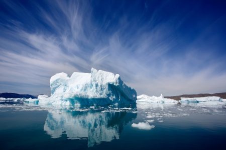 Iceberg dans Qooroq Icefjord dans le sud du Groenland
