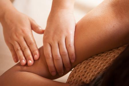 arm: arm massage Stock Photo