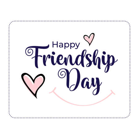 Happy Friendship Day vector illustration/ Greeting Card with text and decorative elements for the celebration of Friendship Day.