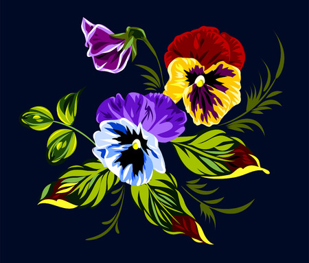 painted image: bouquet