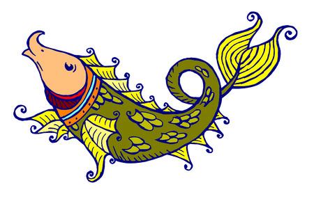 Fairytale fish Vector