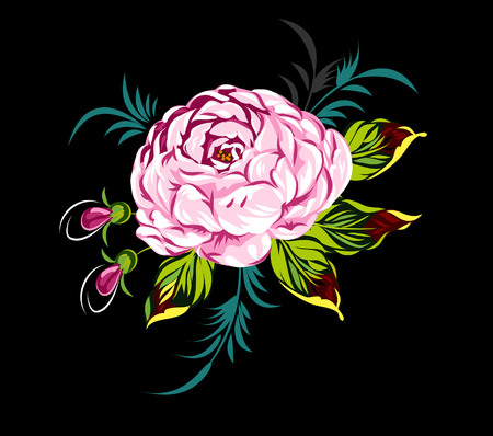 lowers: blooming rose Illustration