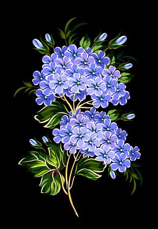 fleur de cerisier: Floraison branche de lilas Illustration