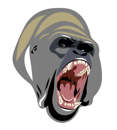 evil face: face the evil gorilla