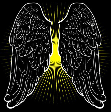 gothic angel: Black wings of an angel