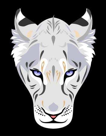 Muzzle of a white lioness