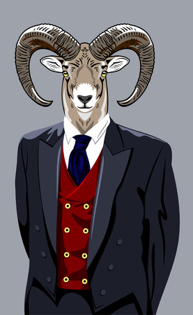 man's suit: Sheep in the business mans suit Illustration